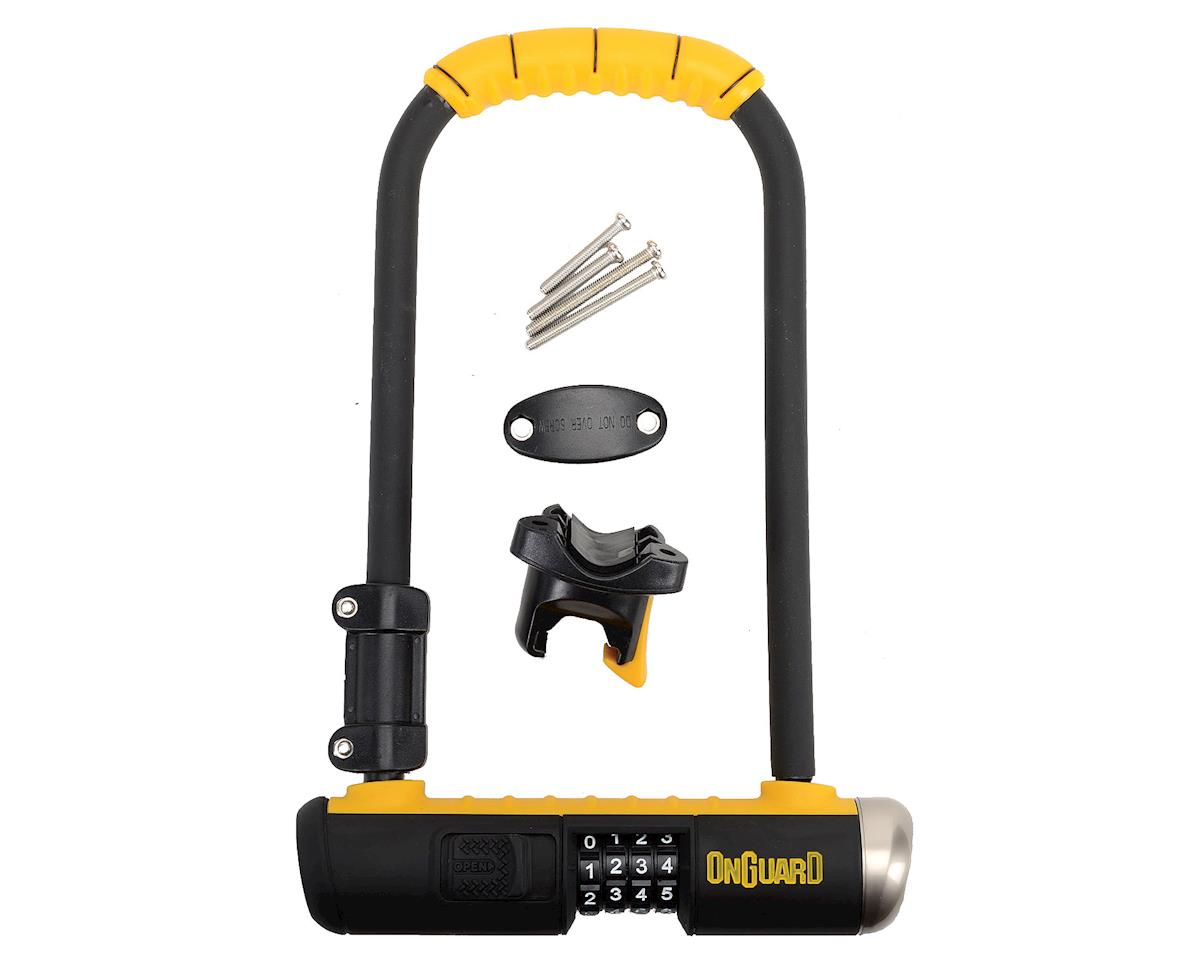 "OnGuard Bulldog Combo U-Lock: 4.5 x 9"", Black/Yellow"