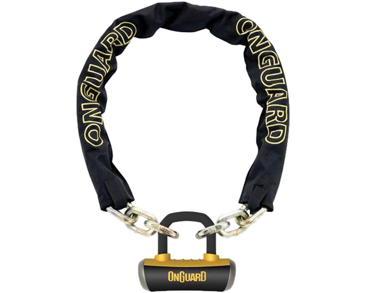 OnGuard Mastiff Chain Lock with Keys: 3.7' x 10mm, Black/Yellow