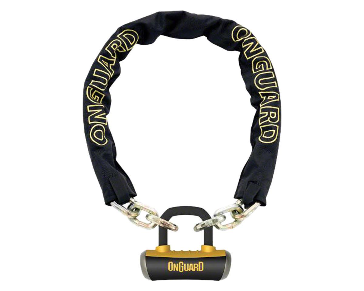 Onguard Mastiff Chain Lock w/ Key (Black/Yellow) (3.7' x 10mm)