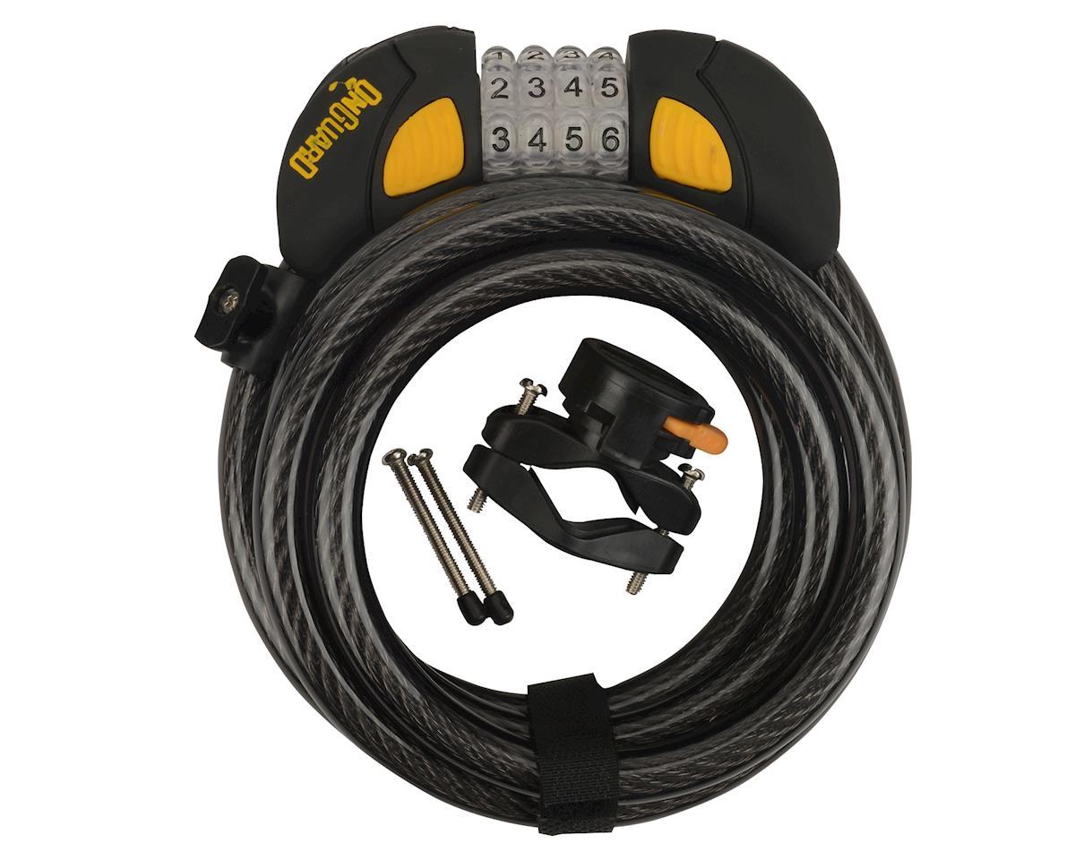 Gray//Black//Yellow OnGuard Doberman Combo Cable Lock 6/' x 12mm