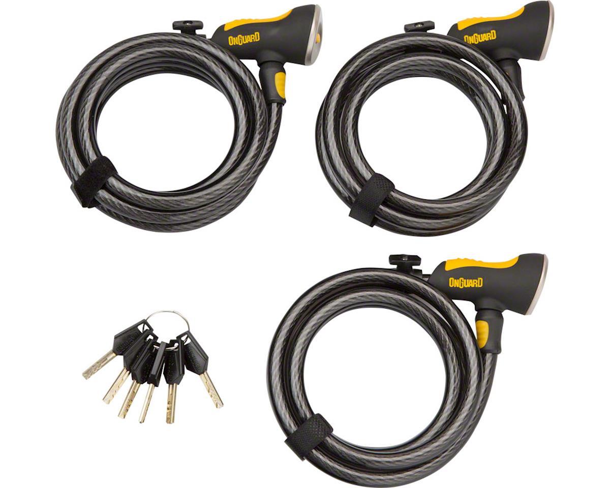 Onguard Keyed Alike 8028 Keyed Cable Locks (3)