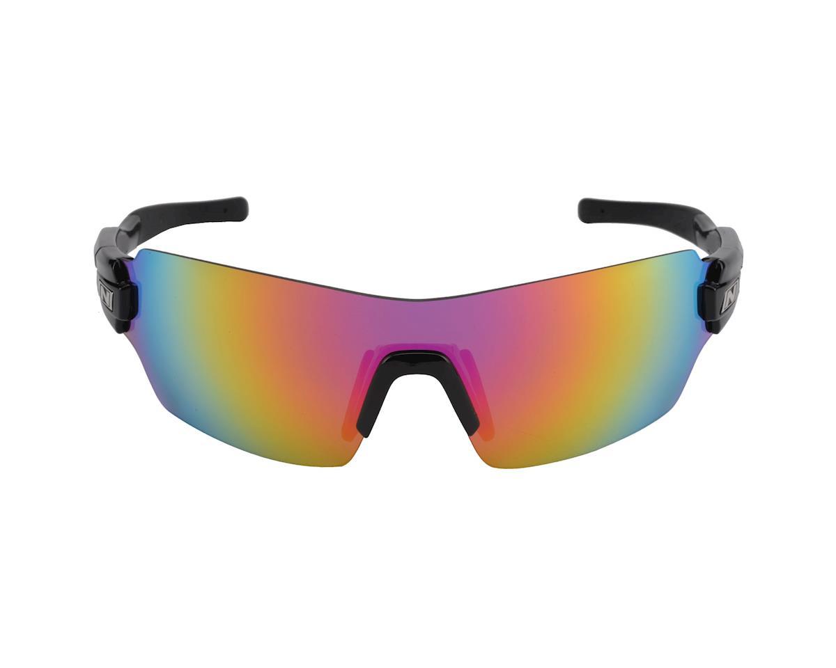 Optic Nerve Vapor Multi-Lens Sunglasses (Shiny Black) (Pink Zaio Lens)