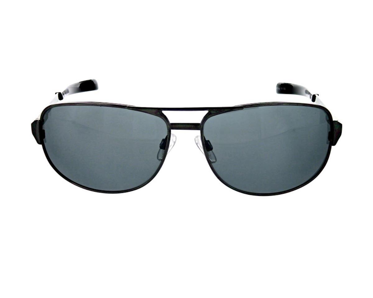 Optic Nerve ONE Siege Polarized Sunglasses w/ Smoke Silver Flash Lens (Gunmetal)
