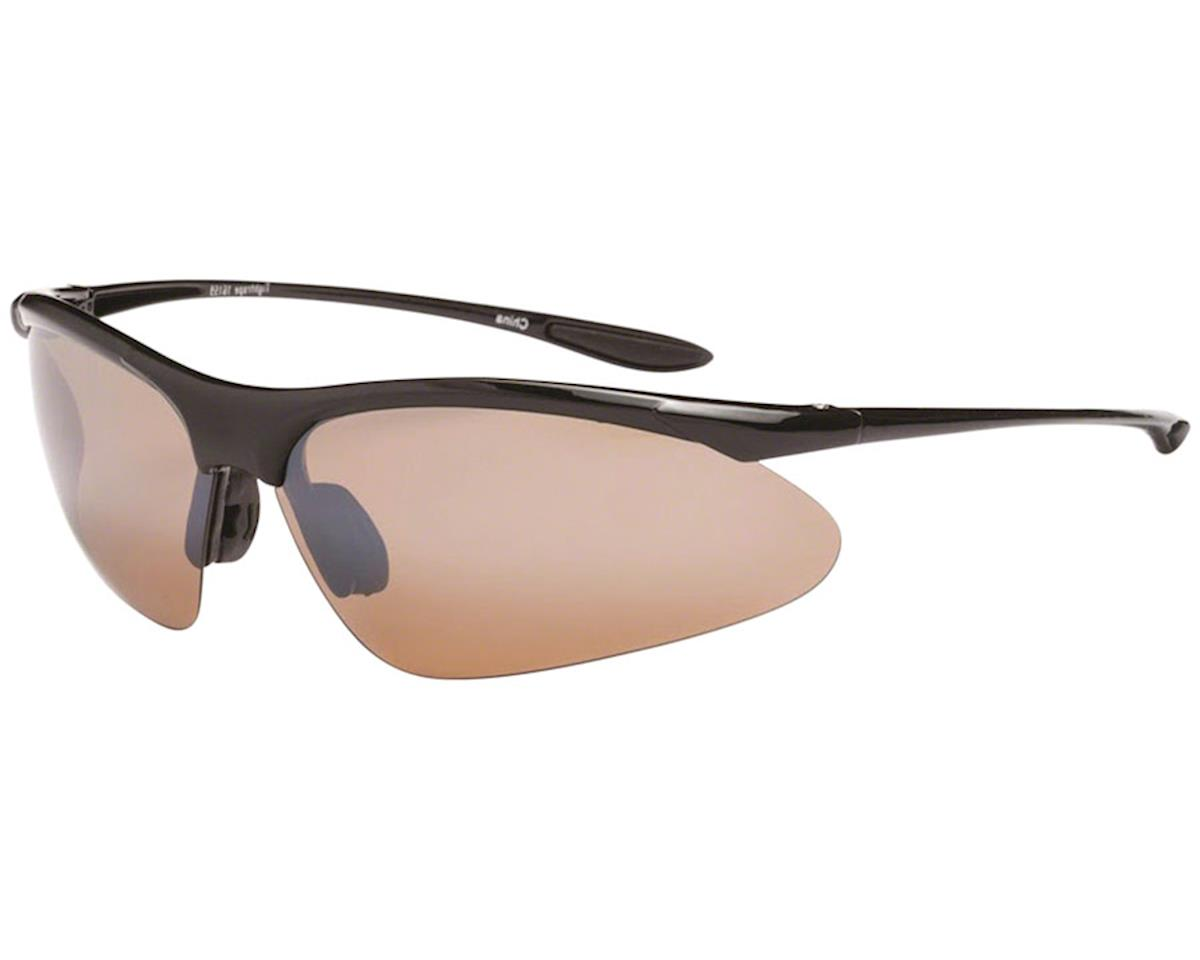 9cf664096e4 ONE Tightrope Polarized Sunglasses  Shiny Black with Brown Silver Flash Lens