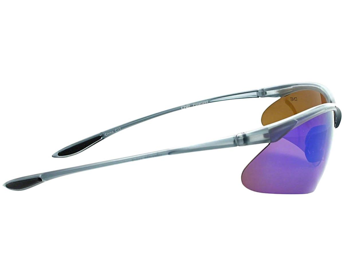 Optic Nerve Tightrope Sunglasses (Matte Carbon) (Brown Blue Mirror Lens)