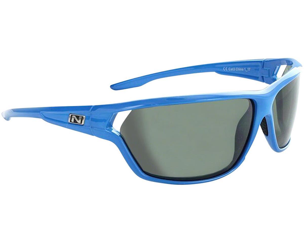 Optic Nerve Dedisse Sunglasses (Shiny Blue) (Smoke/Silver Flash Lens)