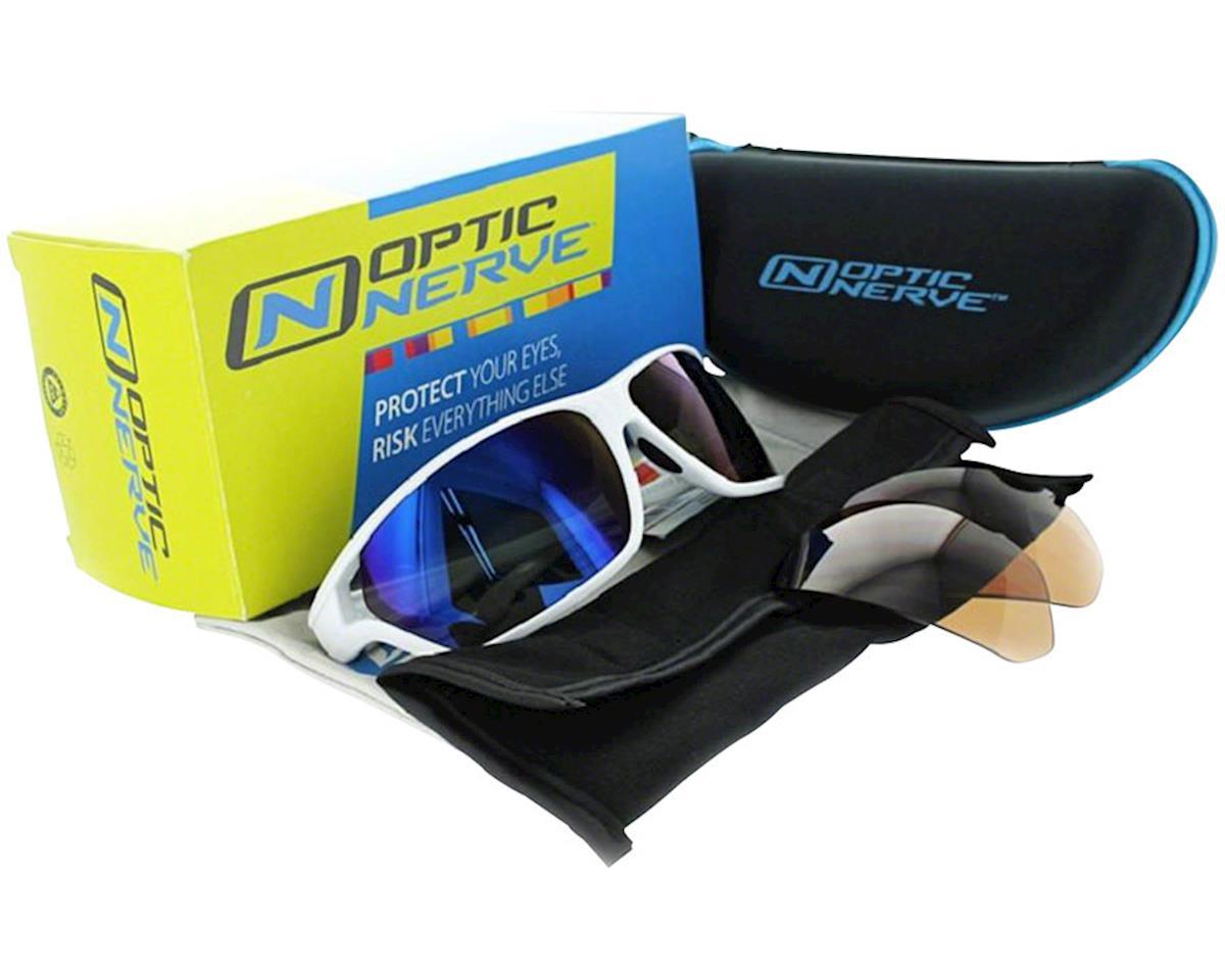 Image 4 for Optic Nerve Dedisse Sunglasses (Shiny Blue) (Smoke/Silver Flash Lens)