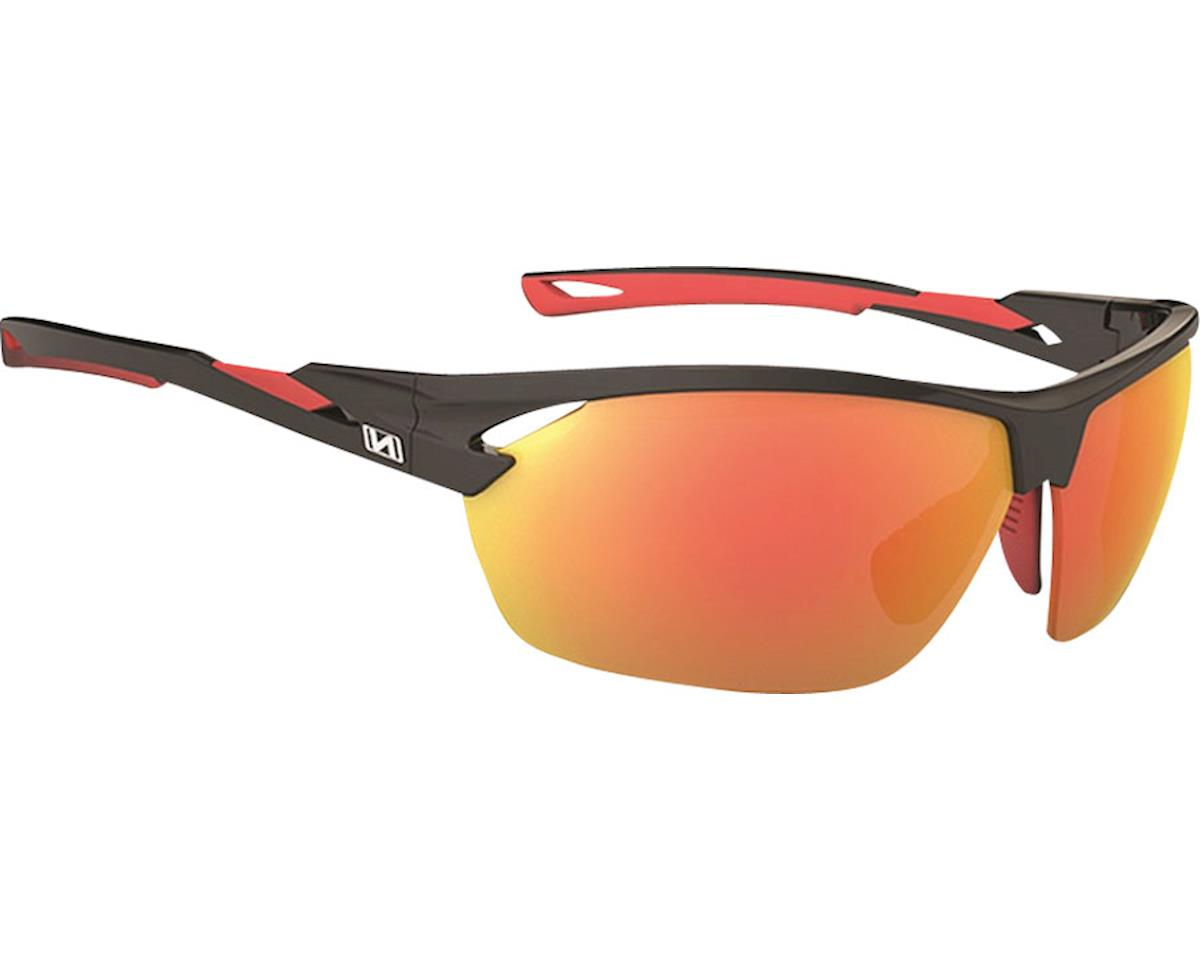 Tach Sunglasses: Matte Black with Red