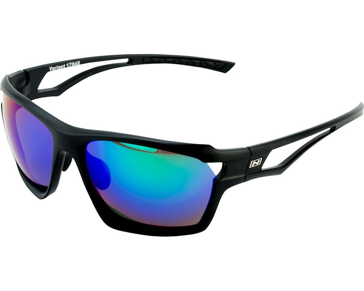 Optic Nerve Variant Sunglasses (Matte Black) (Smoke Green Mirror Lens)