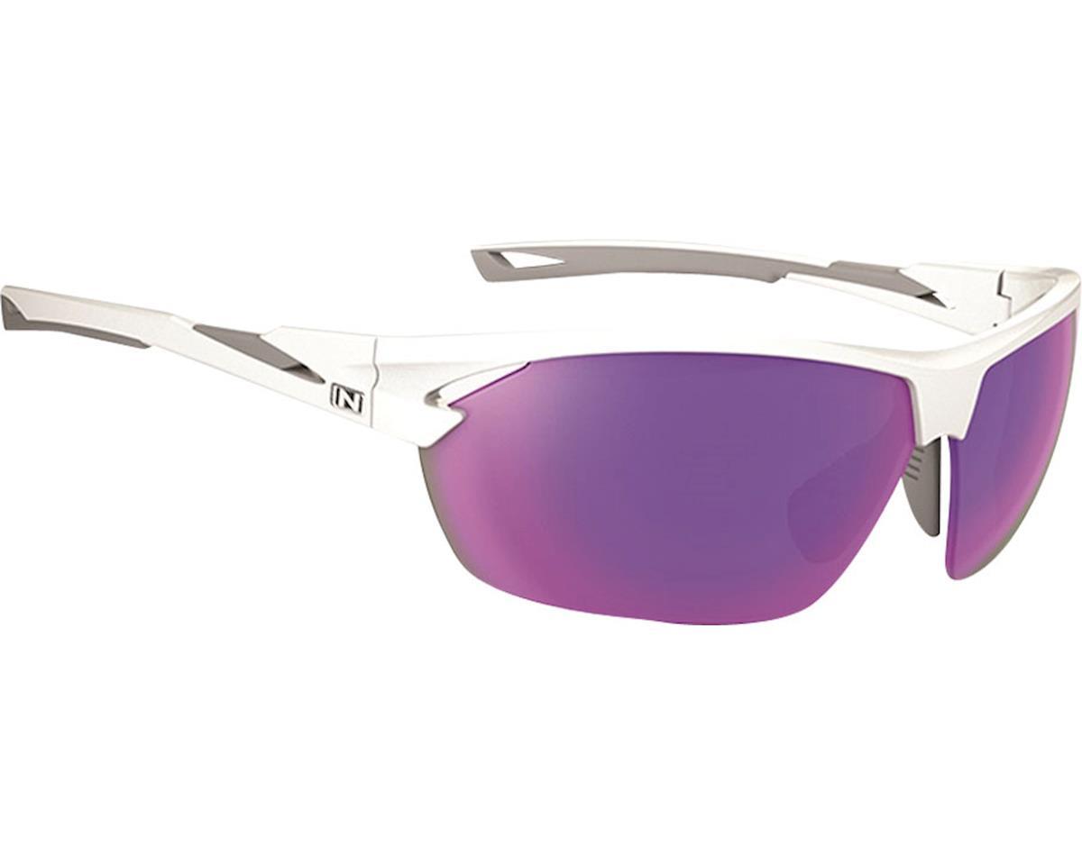 Optic Nerve Tach Sunglasses (Shiny White/Grey)
