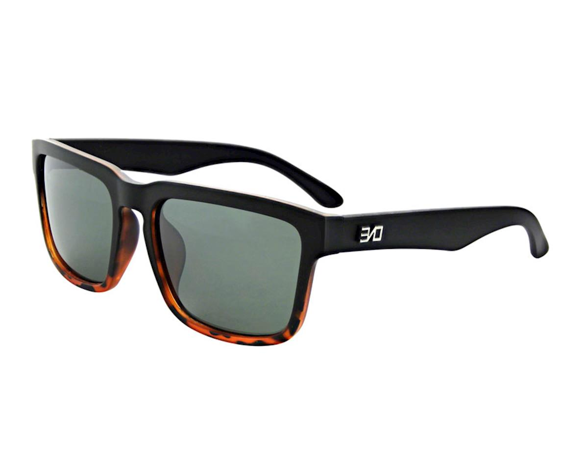 ONE Mashup Polarized Sunglasses: Matte Black/Demi Fade with Gray Lens