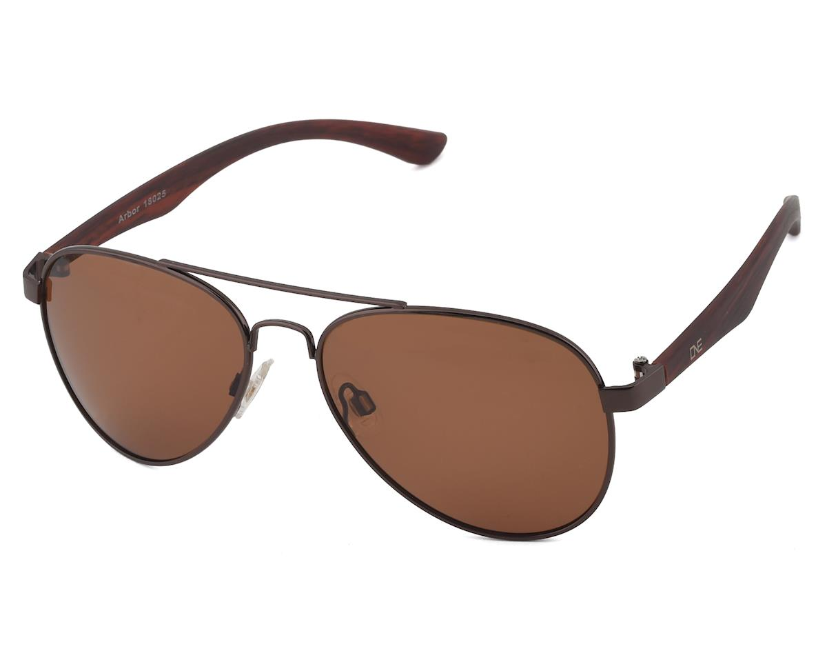 Optic Nerve ONE Arbor Sunglasses (Shiny Brown) (Polarized Brown Lens)