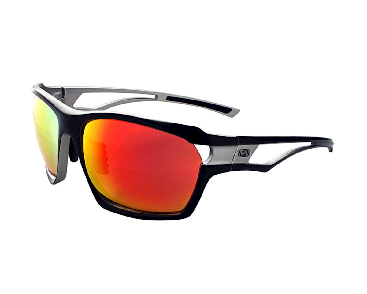 Variant Sunglasses: Matte Lite Gunmetal with Smoke Red Mirror Lens a