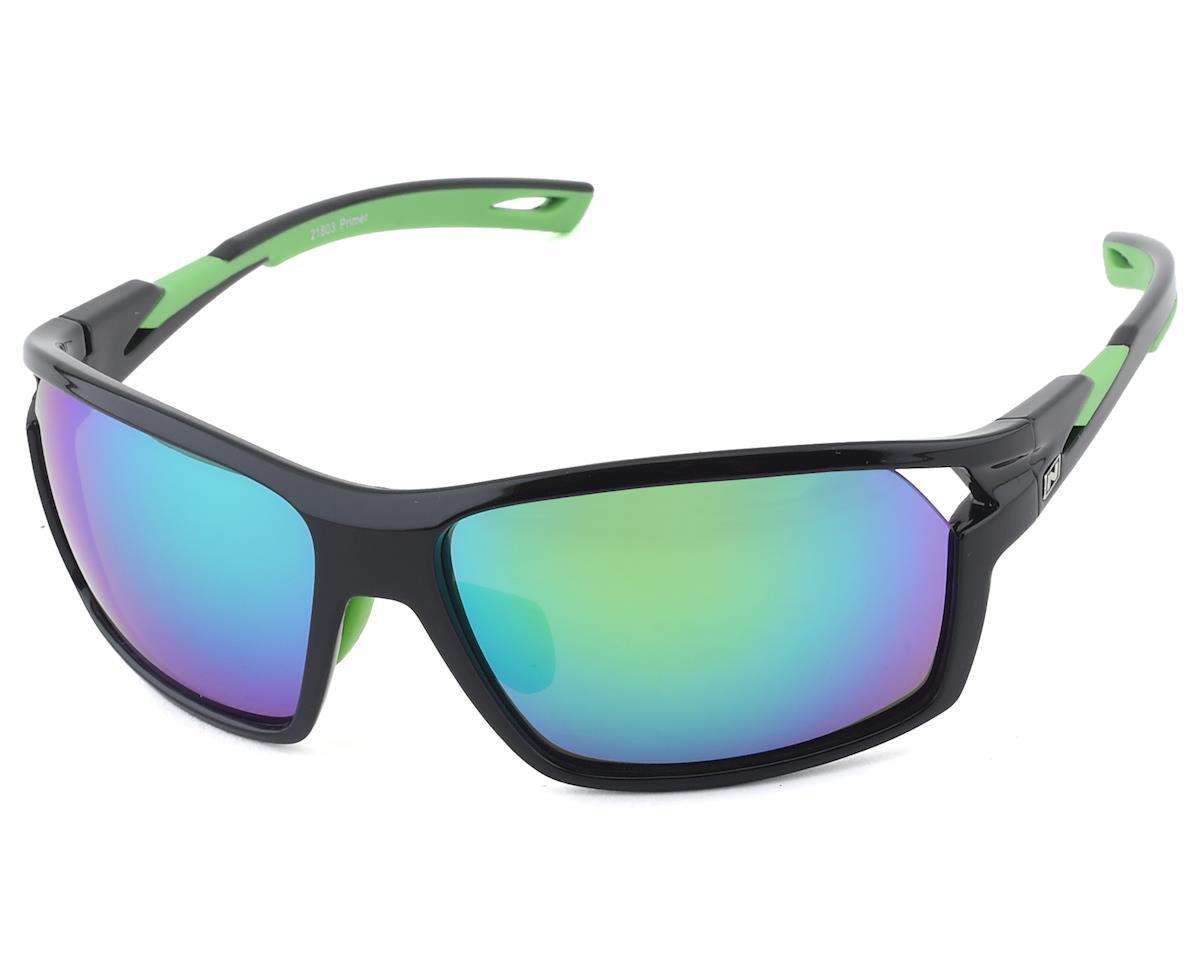 Optic Nerve Primer Sunglasses (Shiny Black/Green) (Gray/Green Mirror Lens)