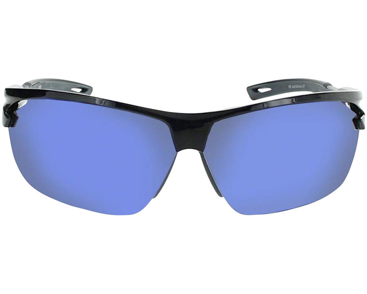 Image 2 for Optic Nerve Tach Sunglasses (Shiny Black/Grey) (Grey Blue Mirror Lens)