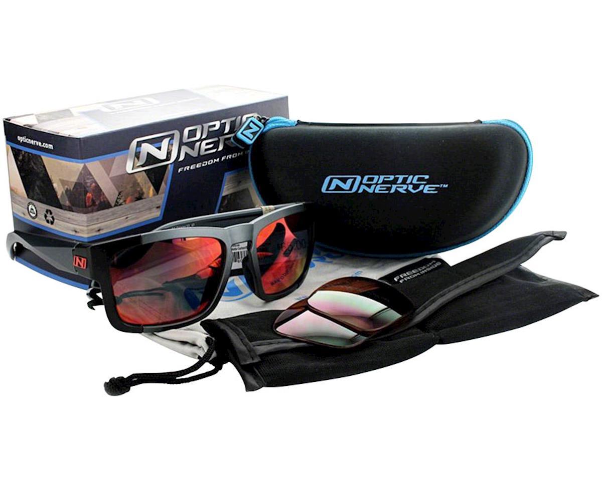 Optic Nerve Vettron Sunglasses (Matte Black) (Smoke Ice Blue Mirror Lens)