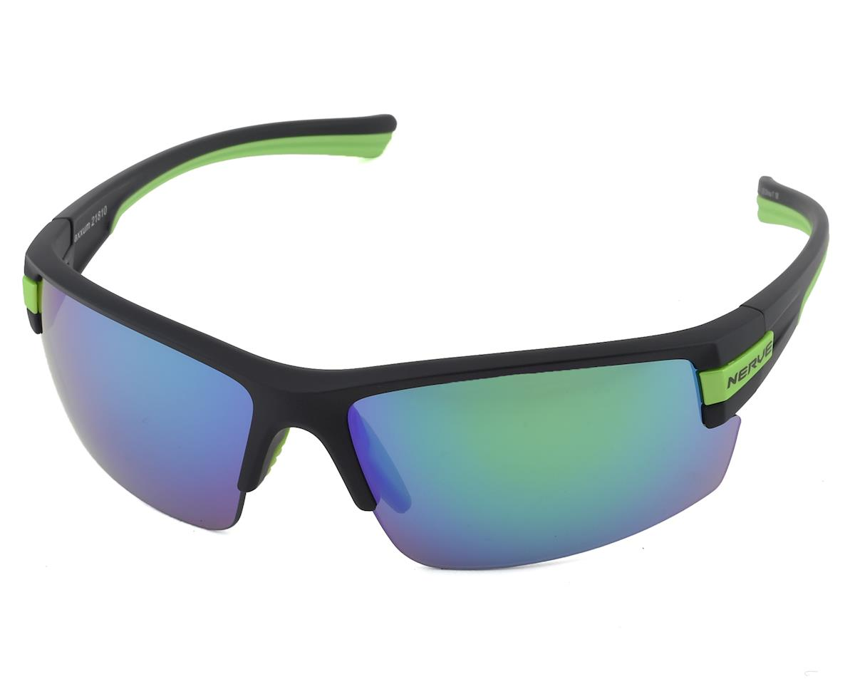 Optic Nerve Maxxum Sunglasses (Matte Black/Green) (Smoke Green Mirror Lens)