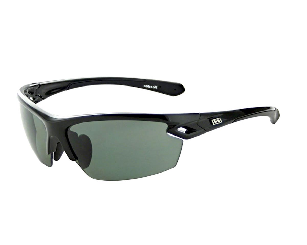 fe0092f1101 Optic Nerve Voodoo Sunglasses  Shiny Black with Silver Flash Lens and  additional
