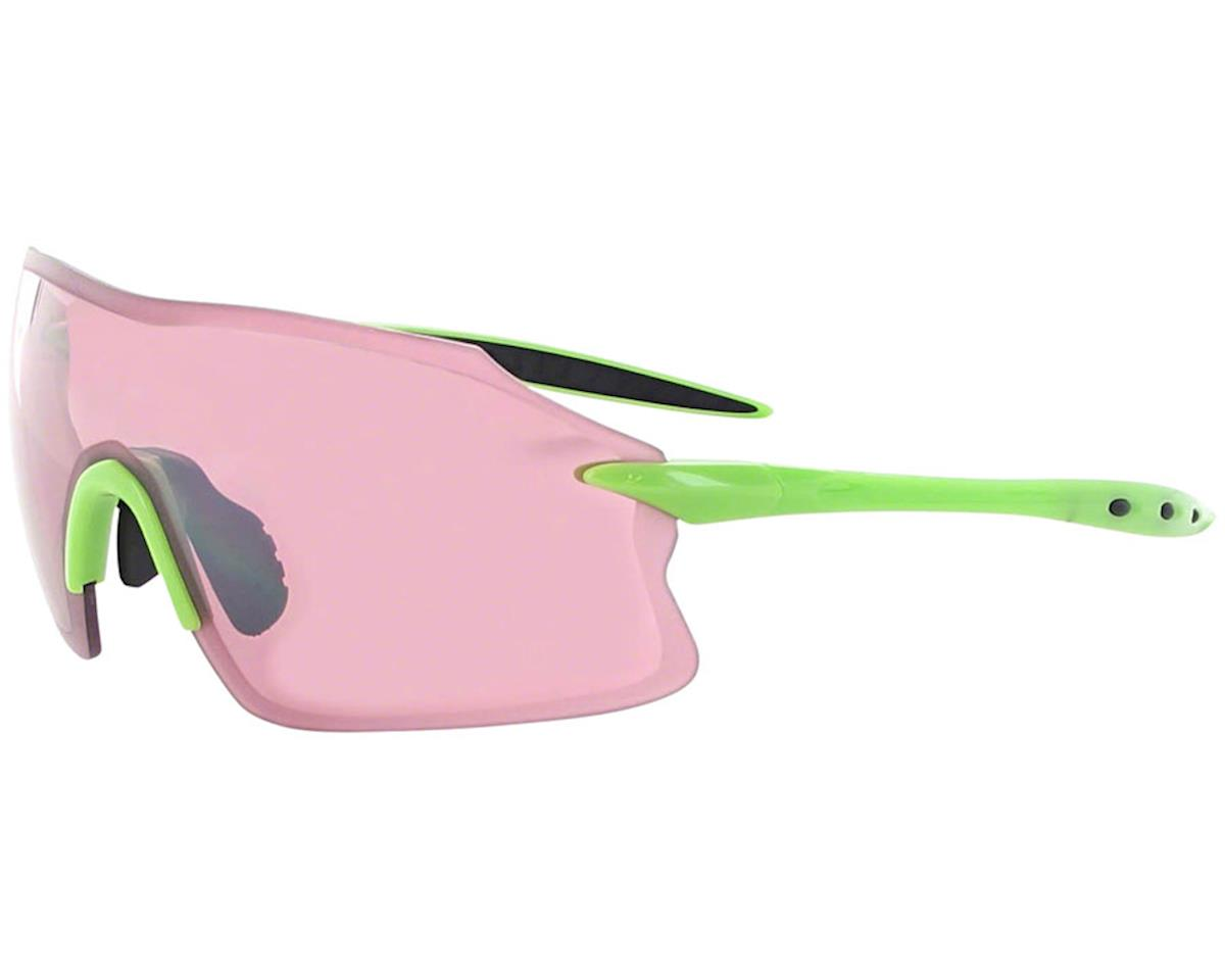 Optic Nerve Fixie PRO Sunglasses w/ Rose Silver Flash Lens (Shiny Green)