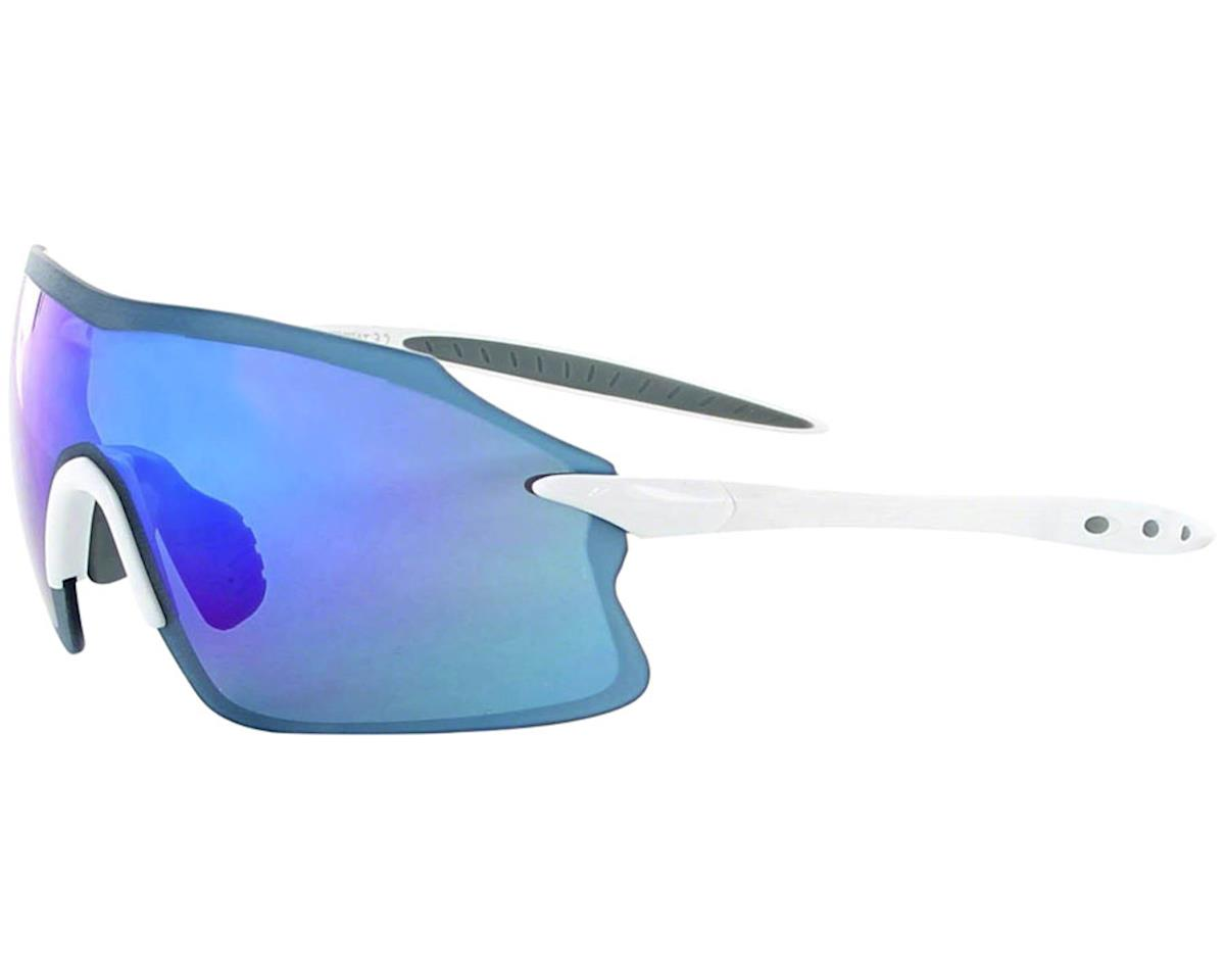 Optic Nerve Fixie PRO Sunglasses w/ Smoke Blue Mirror Lens (Shiny White)