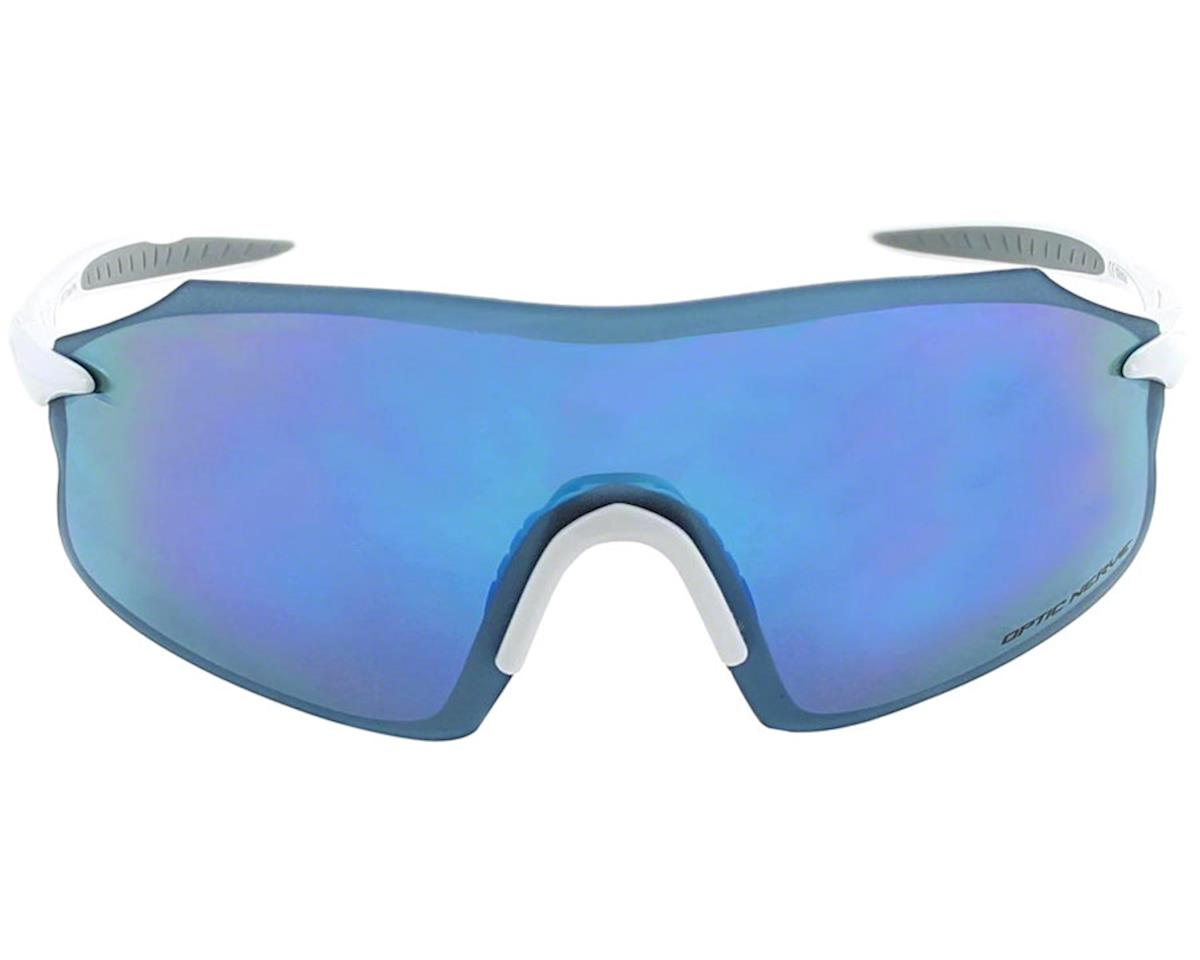 Optic Nerve Fixie Pro Sunglasses (Shiny White) (Smoke Blue Mirror Lens)