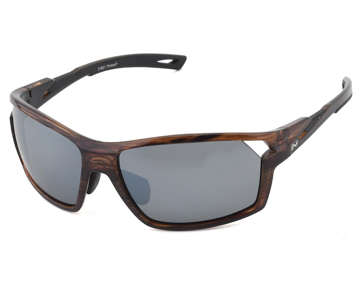 Optic Nerve Primer Sunglasses: Shiny Dark Driftwood Demi with Polarized Smoke Si
