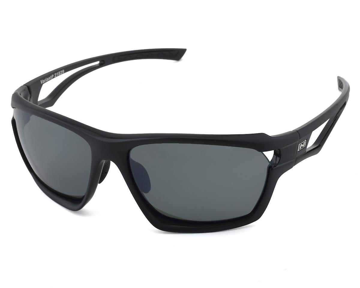 Optic Nerve Variant Polarized Sunglasses (Two Tone Black) (Polarized Smoke Lens)