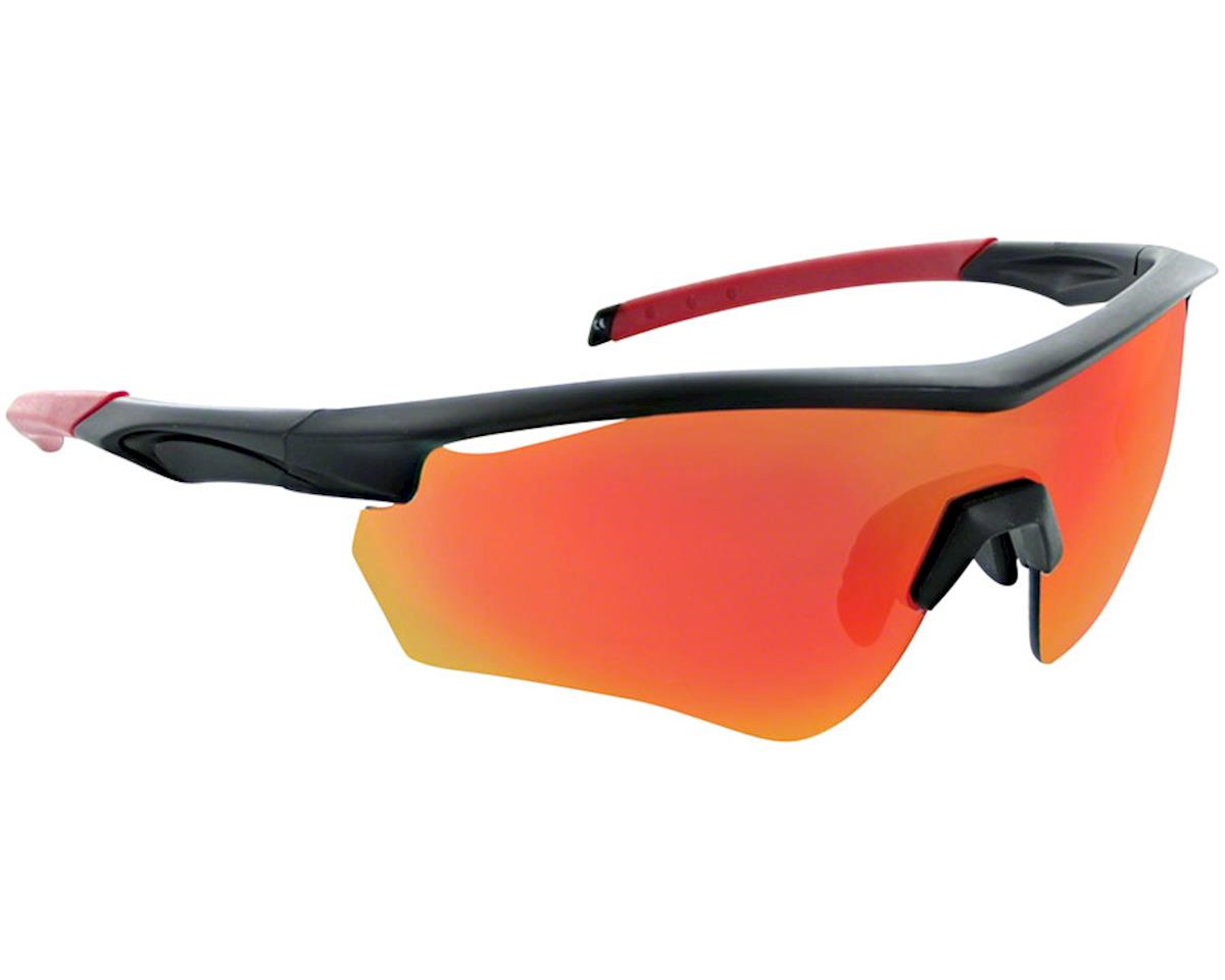 Optic Nerve Switchback Matte Black w/ Red Tips w/PC Smk Red Revo Lens