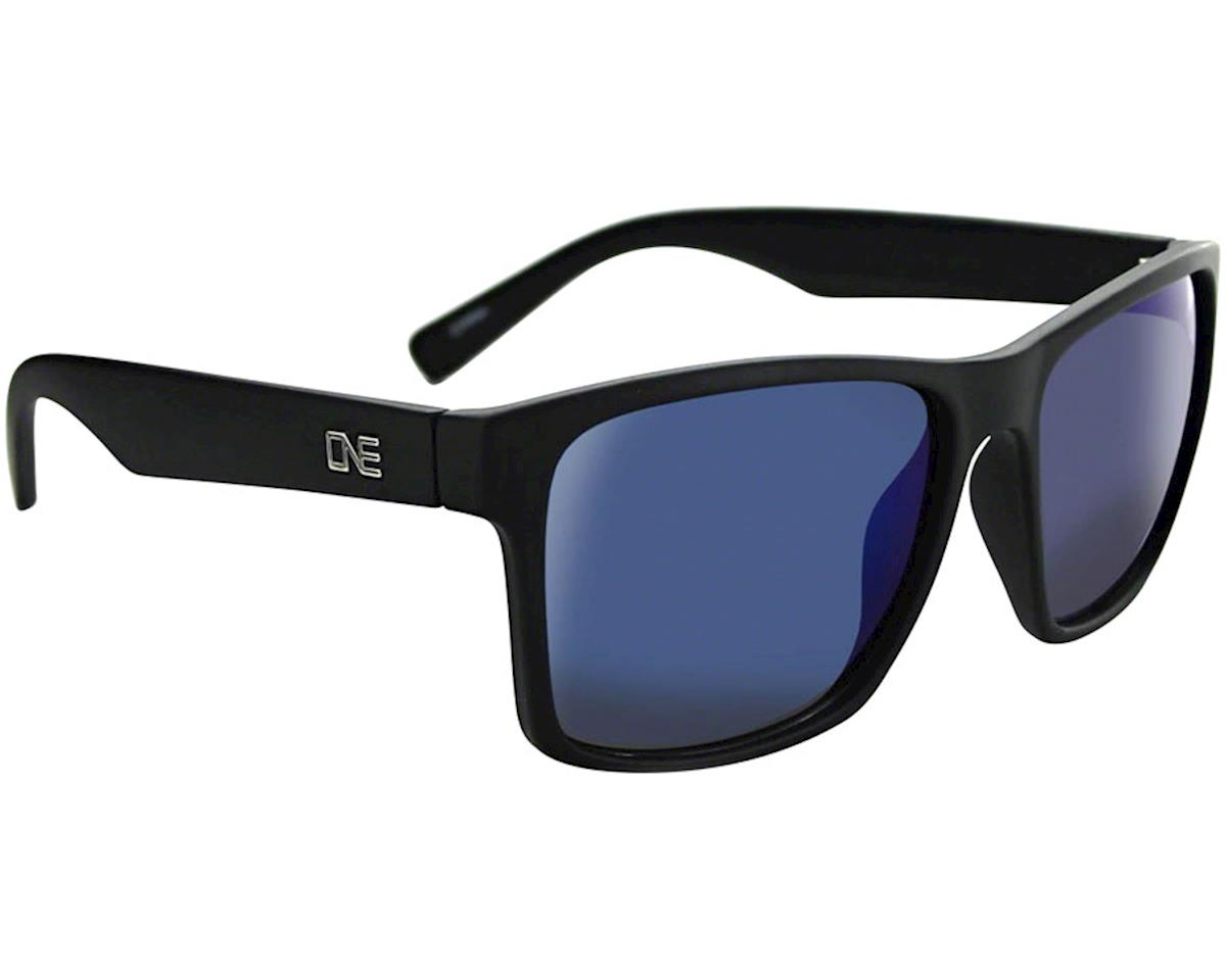 Optic Nerve Bankroll Sunglasses (Matte Black) (Polarized Smoke Blue Mirror Lens)