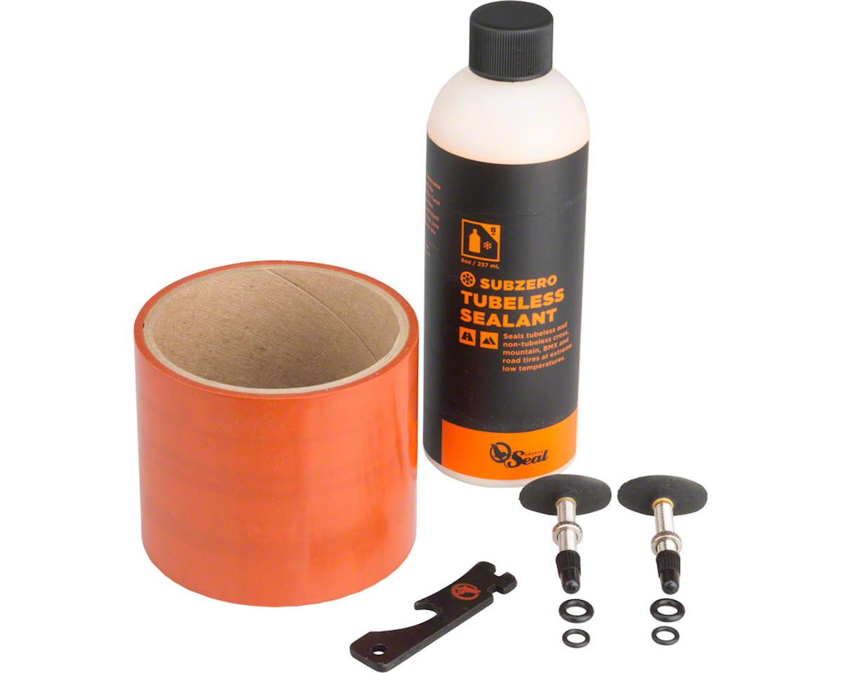 Orange Seal 75mm Fatbike Tubeless Kit with Subzero Formula Sealant