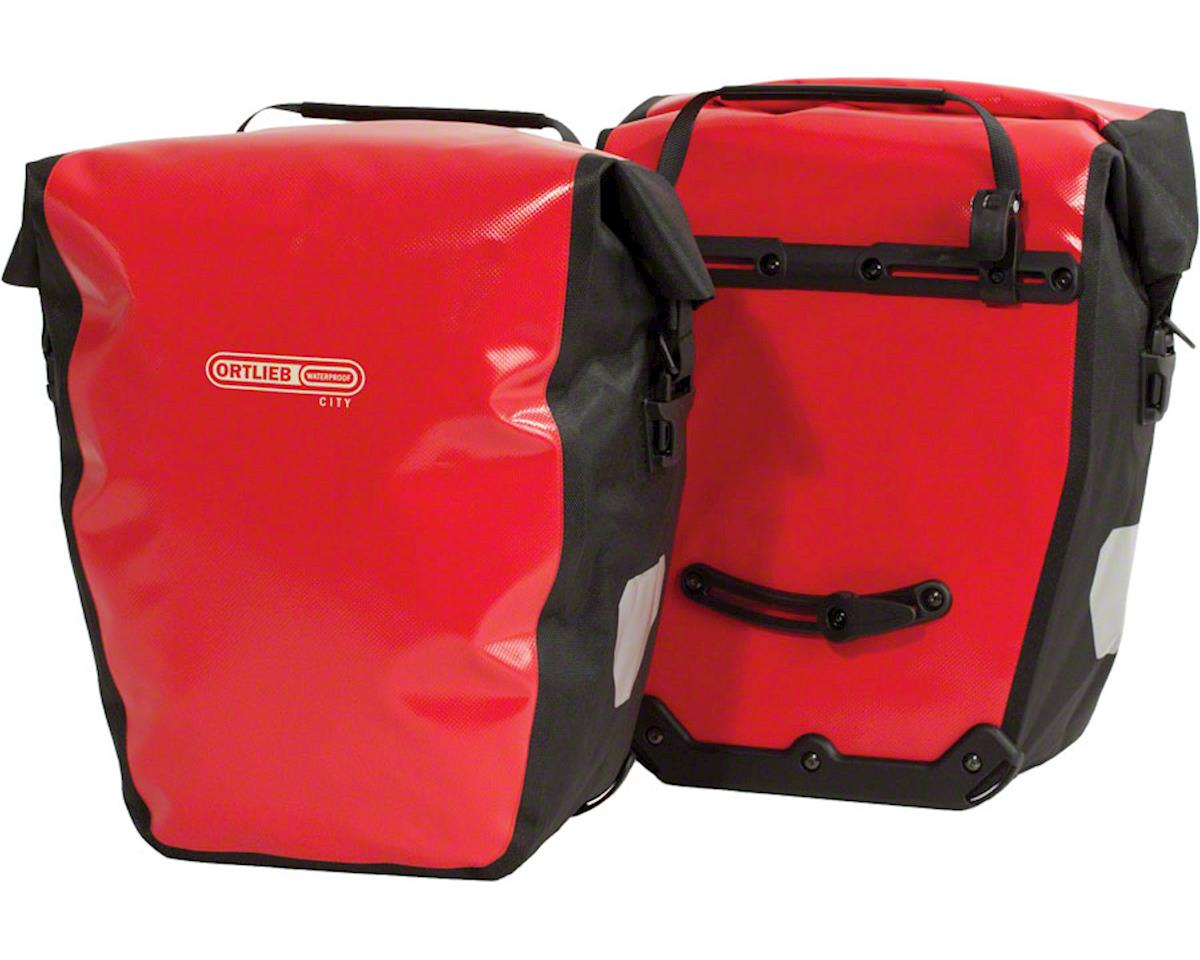 Ortlieb Back-Roller City Rear Pannier: Pair~ Red/Black