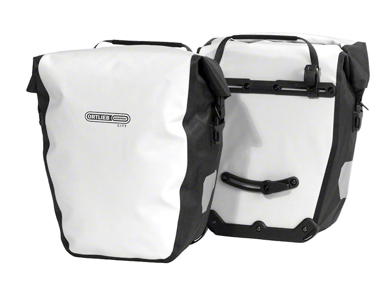 Ortlieb Back-Roller City Rear Pannier: Pair~ White/Black