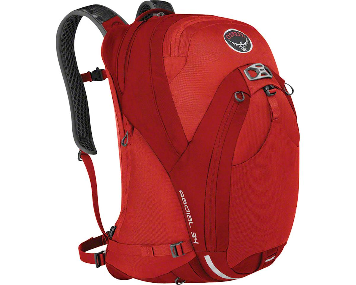 Osprey Radial 34 Commuter Backpack (Lava Red) (M/L)