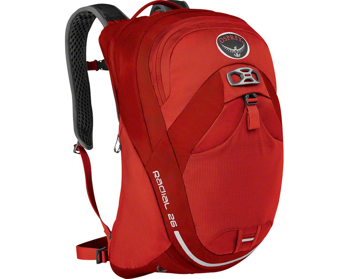 Osprey Radial 26 Commuter Backpack (Lava Red) (M/L)