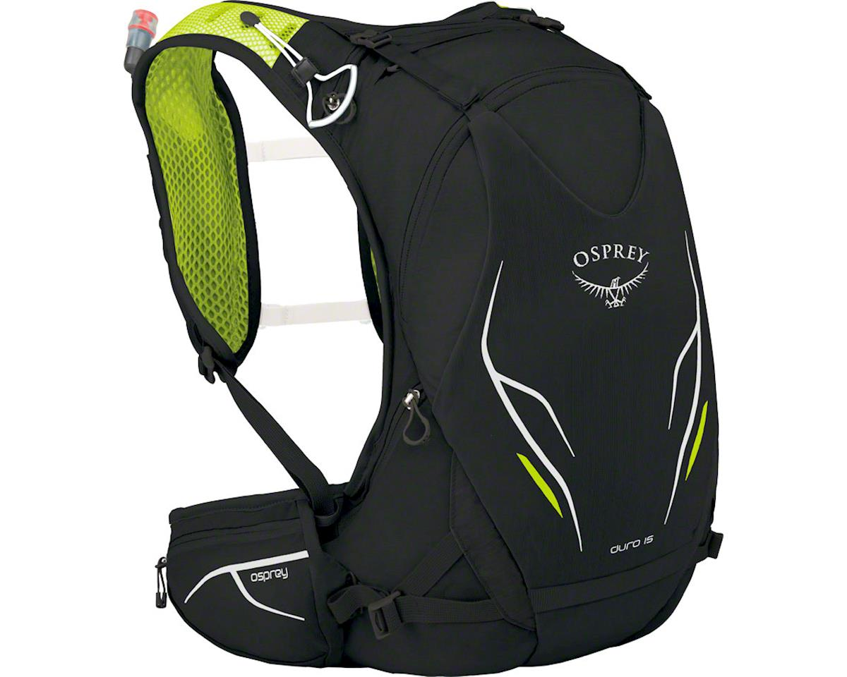 Duro 15 Run Hydration Pack: Electric Black, MD/LG