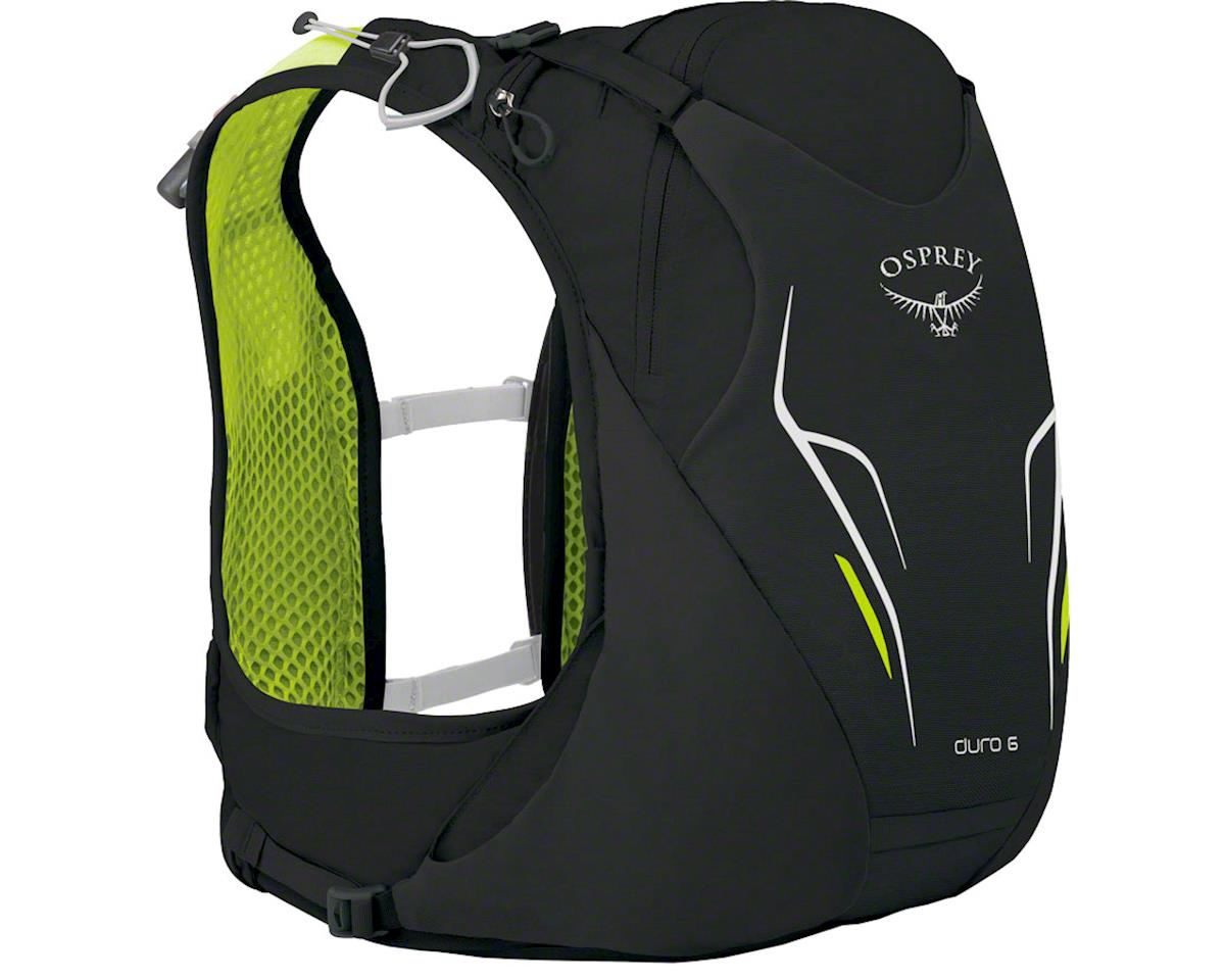 Duro 6 Run Hydration Pack: Electric Black, SM/MD