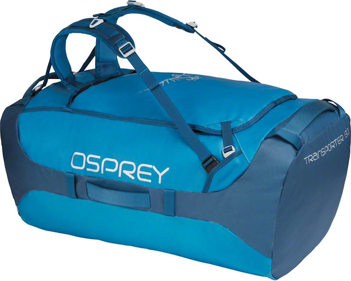 Osprey Transporter 130 Duffel Bag: Kingfisher Blue