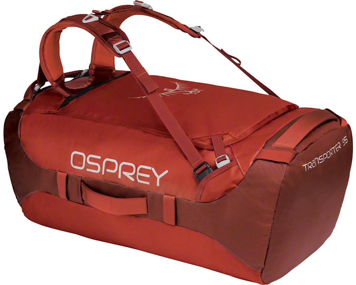 Osprey Transporter 95 Duffel Bag: Ruffian Red
