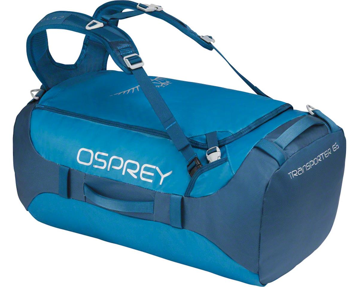 Osprey Transporter 65 Duffel Bag: Kingfisher Blue