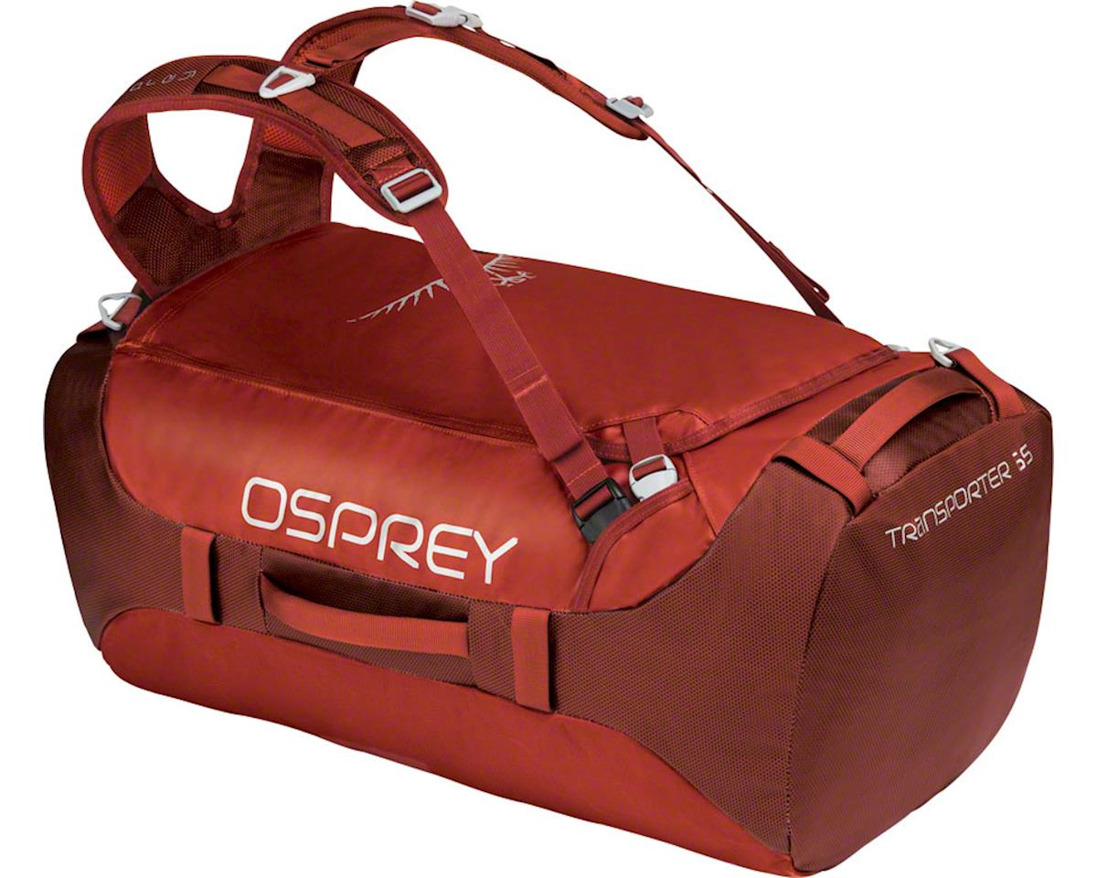 Osprey Transporter 65 Duffel Bag: Ruffian Red
