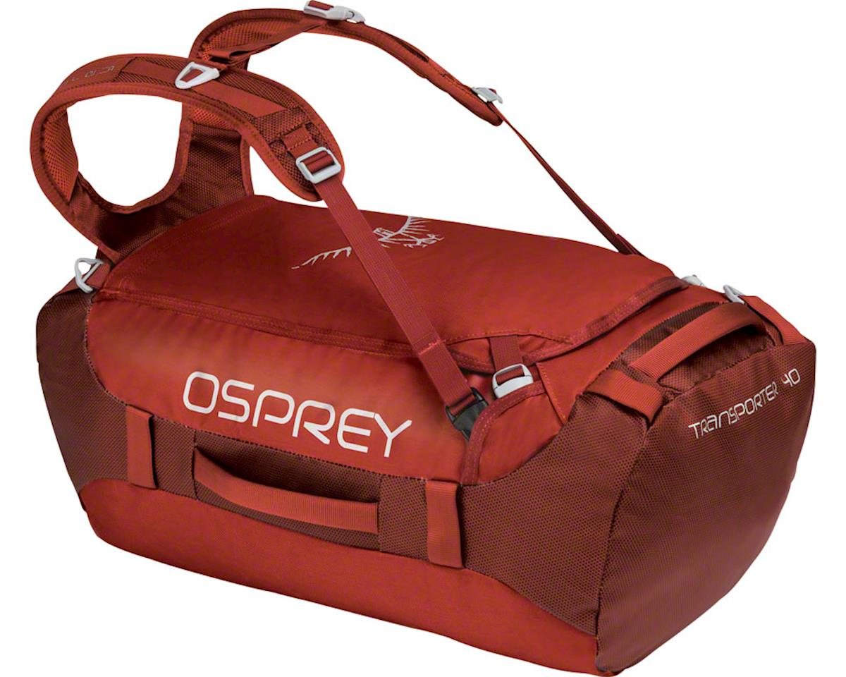 Osprey Transporter 40 Duffel Bag: Ruffian Red