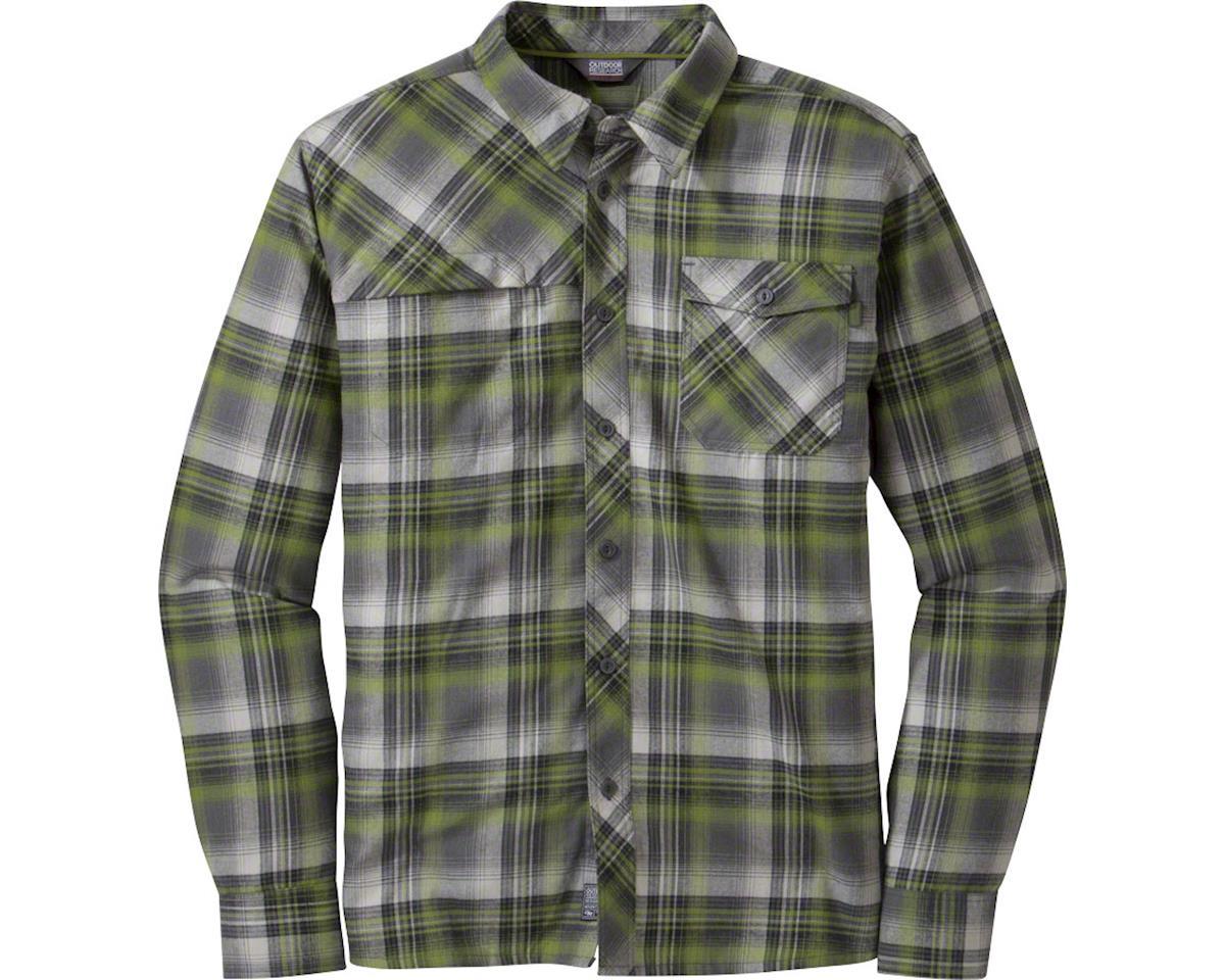 Outdoor Research Tangent II Men's Long Sleeve Shirt: Carob Plaid, XL