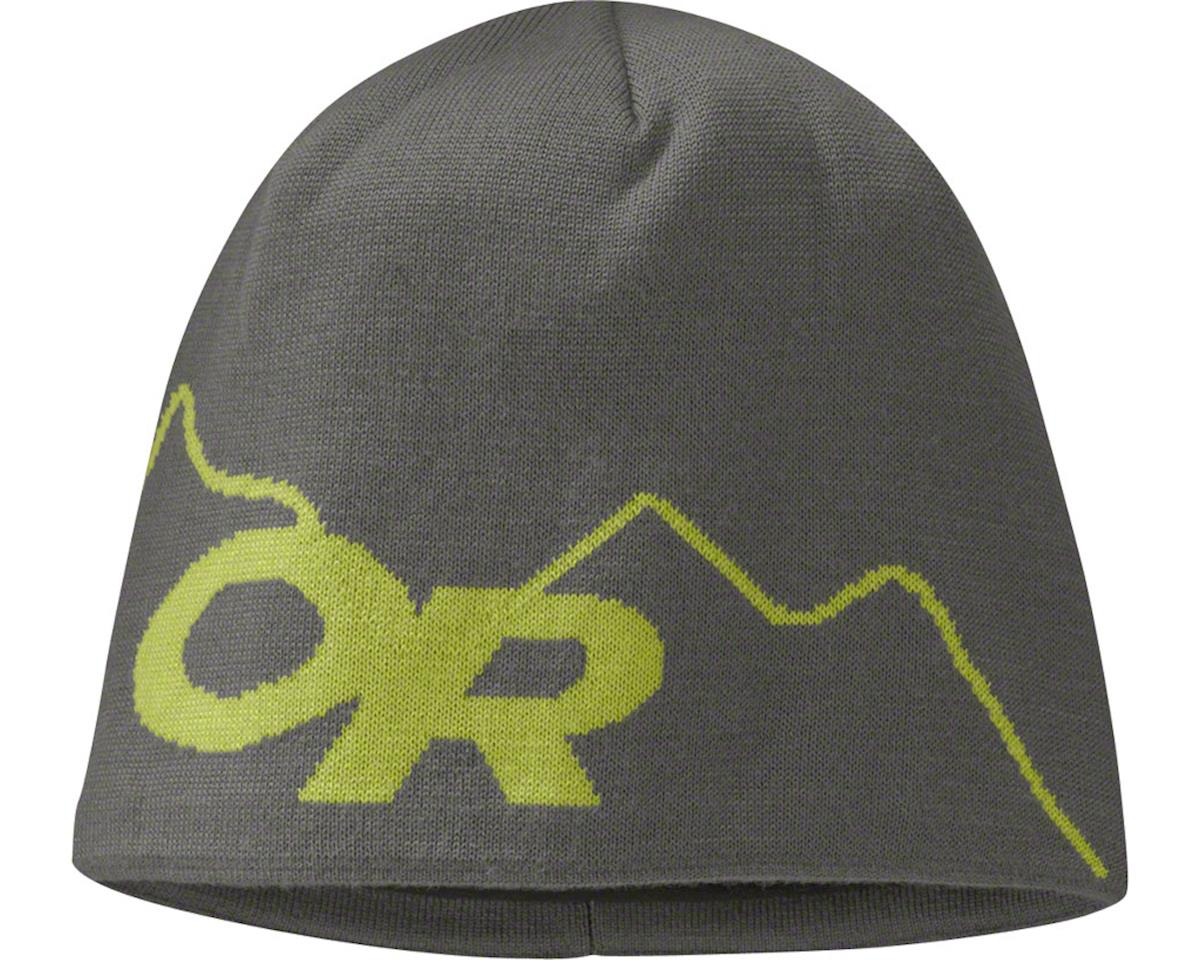 Outdoor Research Storm Beanie: Pewter/Lemongrass