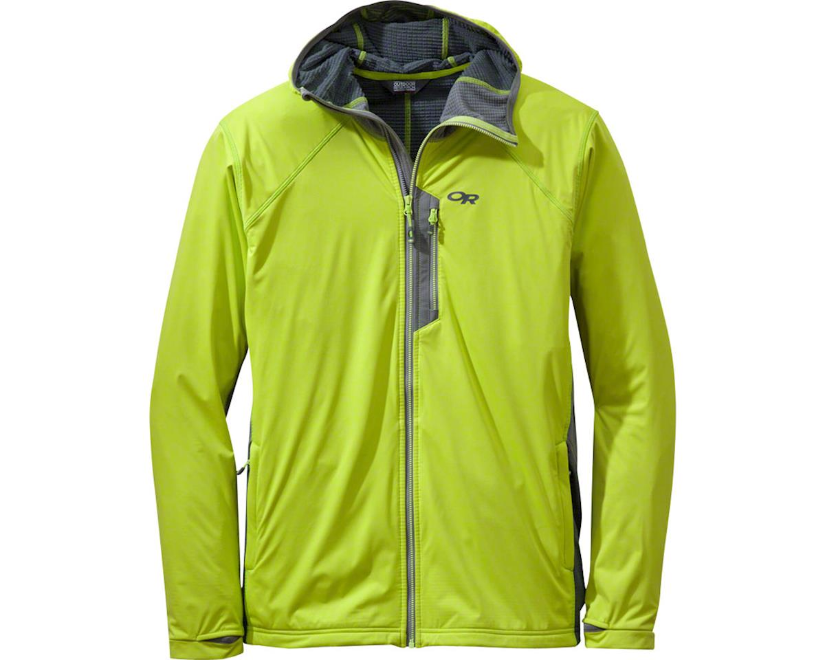 Outdoor Research Centrifuge Men's Hooded Jacket (Lemongrass Yellow/Pewter Gray) (S)