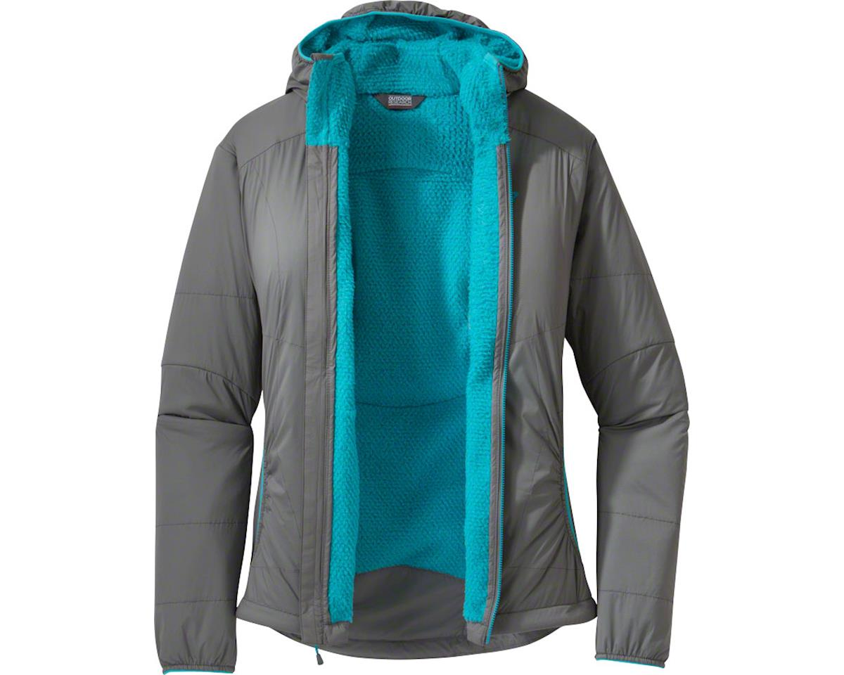 Outdoor Research Ascendant Women's Hoody (Pewter Gray/Typhoon Blue) (M)