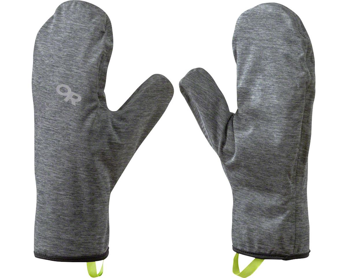 Outdoor Research Shuck Shell Mitts: Charcoal/Heather, LG/XL
