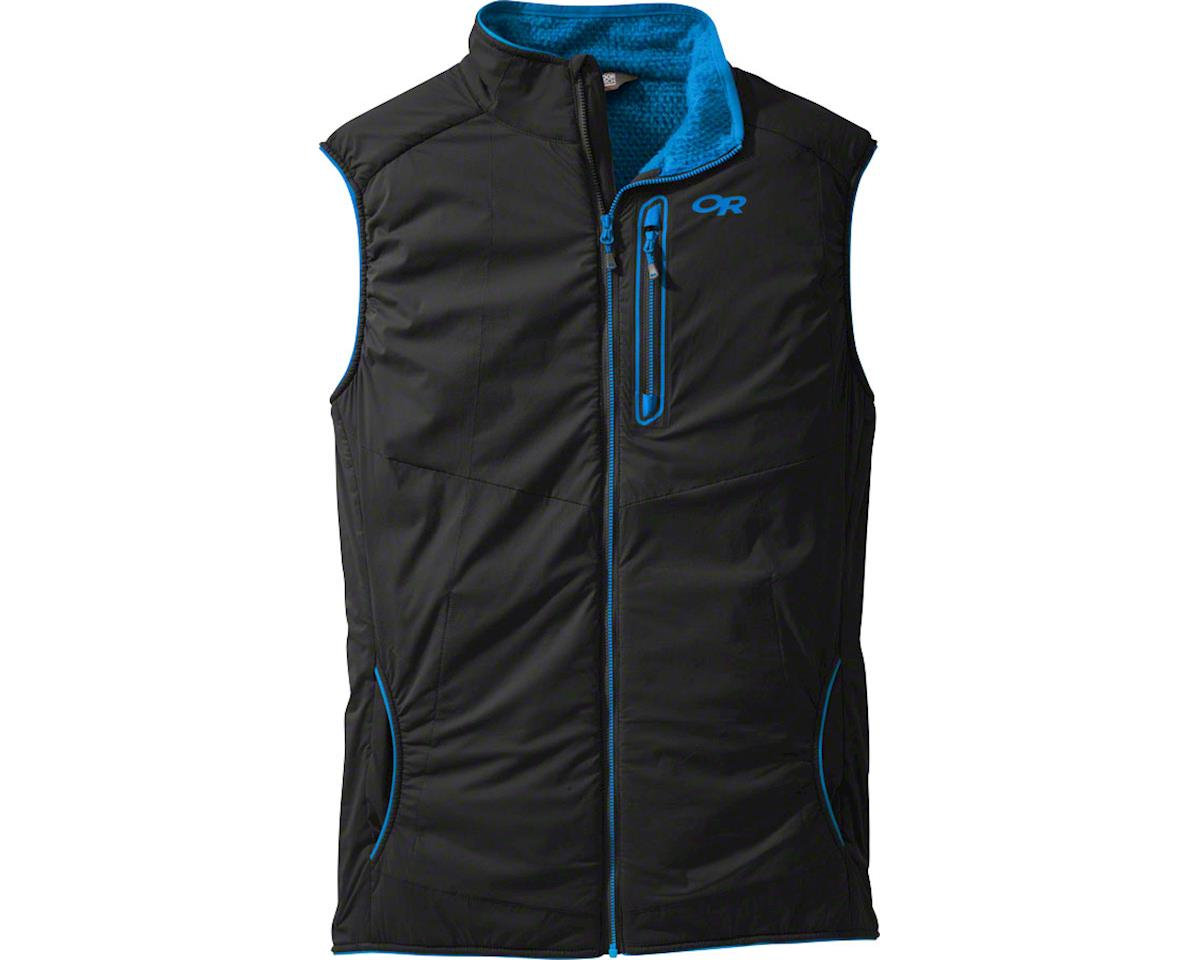Outdoor Research Ascendant Men's Vest: Black/Tahoe, XL