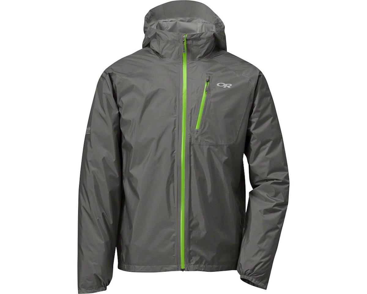 Outdoor Research Helium II Men's Jacket (Pewter Gray/Green)