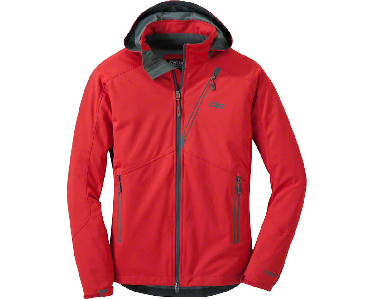 Outdoor Research Linchpin Men's Hooded Softshell Jacket (Red)