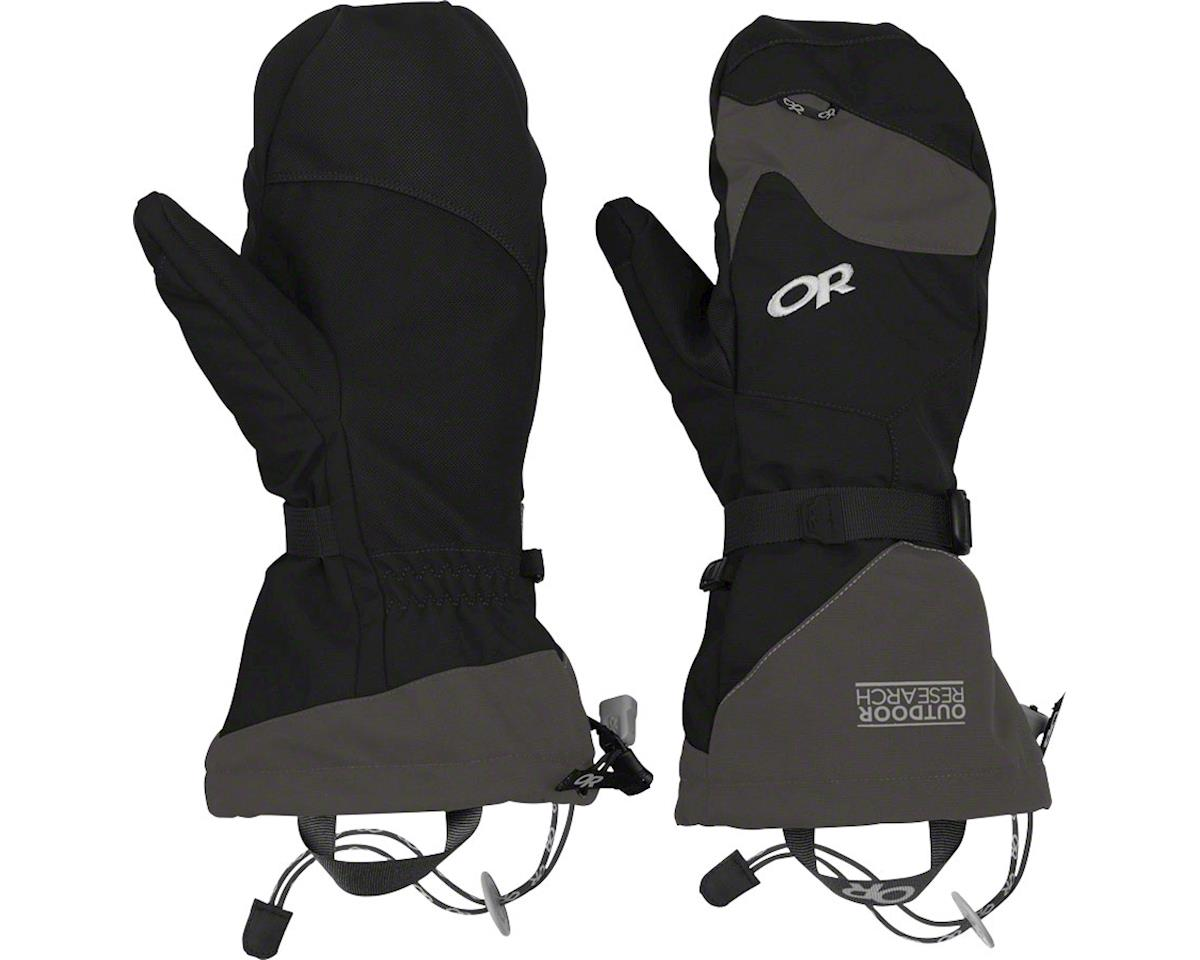 Outdoor Research Meteor Mitts: Black/Charcoal, XL